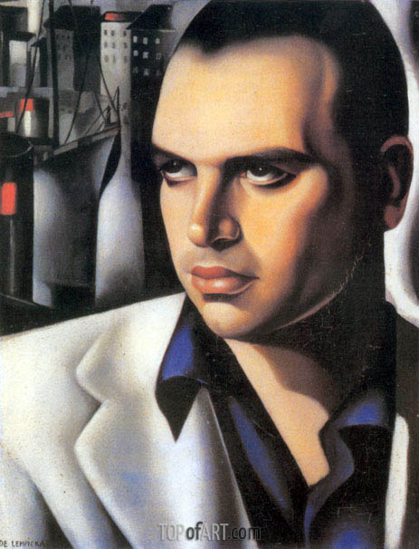 Portrait of Count Vettor Marcello, c.1933 | Lempicka | Gemälde Reproduktion