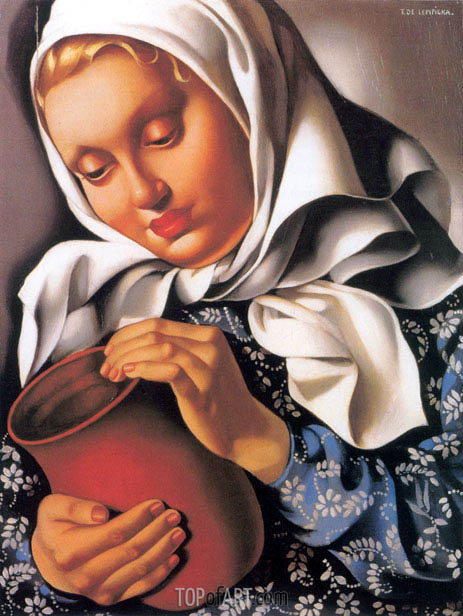 Lempicka   Peasant Girl with Pitcher, c.1937