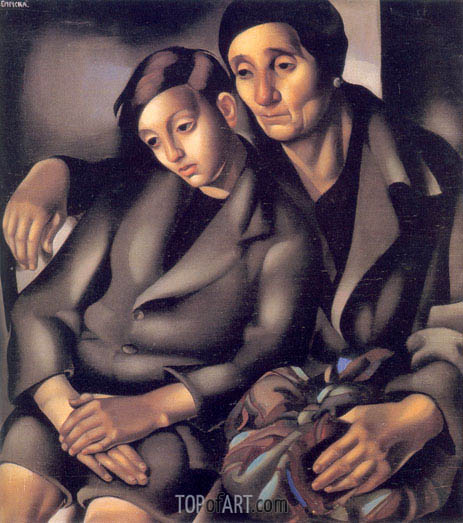 The Refugees, 1931 | Lempicka | Painting Reproduction