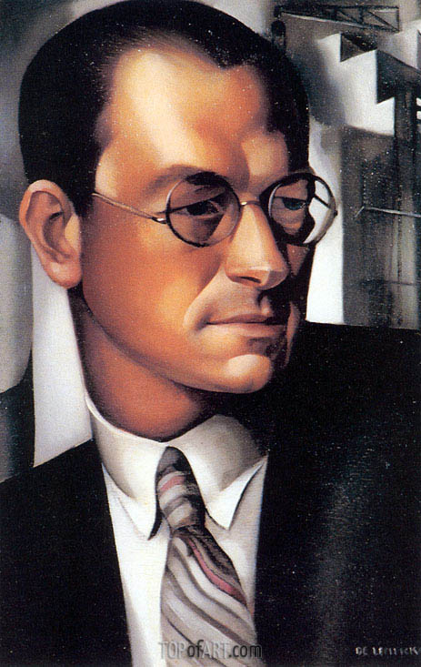 Portrait of Pierre de Montaut, 1931 | Lempicka | Painting Reproduction