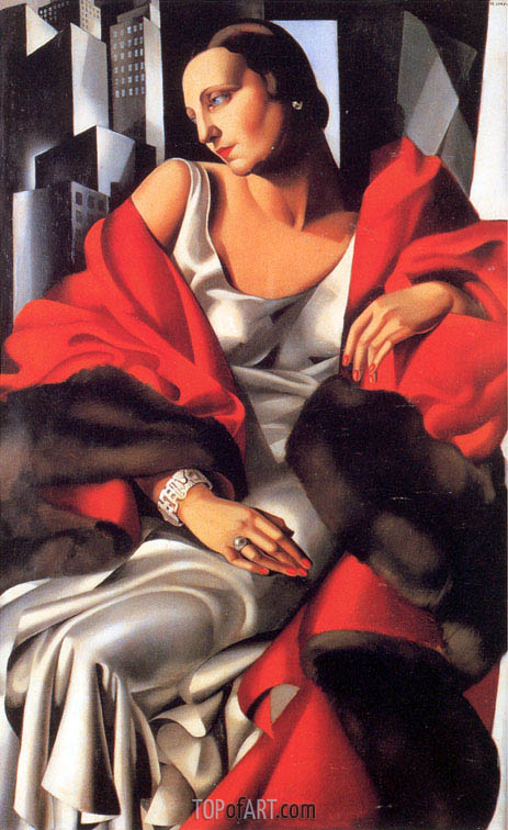 Portrait of Mrs Boucard, 1931 | Lempicka | Painting Reproduction