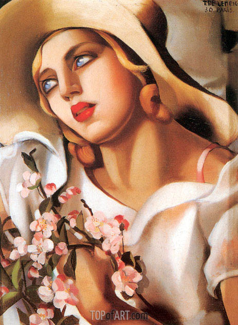 The Straw Hat, 1930 | Lempicka | Painting Reproduction