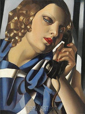 The Telephone II, 1930 | Lempicka| Painting Reproduction
