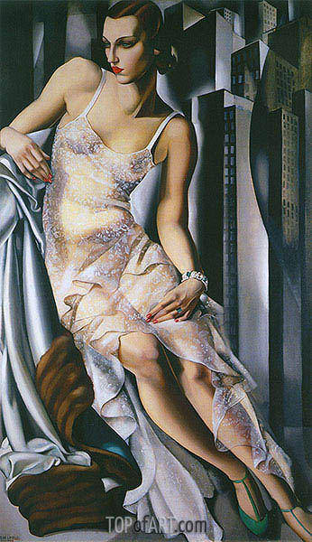 Portrait of Mrs Allan Bott, 1930 | Lempicka| Painting Reproduction