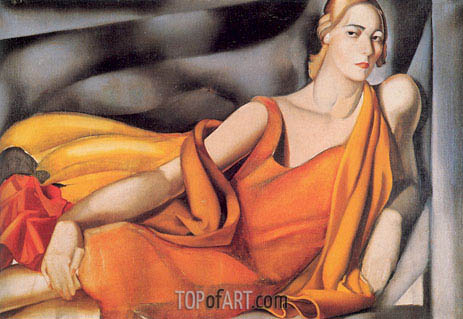 Woman in a Yellow Dress, 1929 | Lempicka | Painting Reproduction