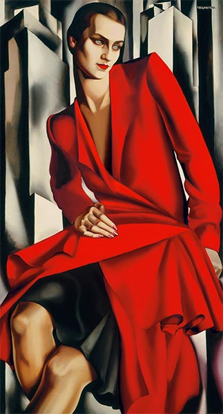 Portrait of Mrs Bush, 1929 | Lempicka | Painting Reproduction