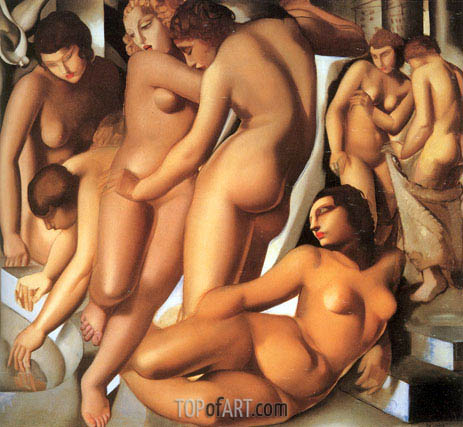 Women Bathing, 1929 | Lempicka | Painting Reproduction