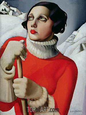 Saint Moritz, 1929 | Lempicka | Painting Reproduction