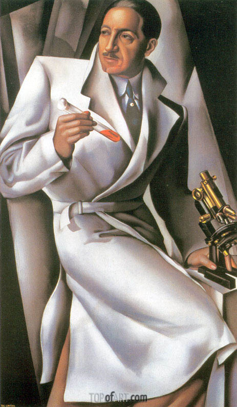 Portrait of Doctor Boucard, 1928 | Lempicka | Painting Reproduction