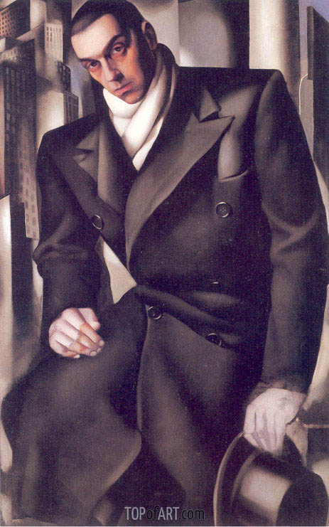 Portrait of a Man or Mr Tadeusz de Lempicki, 1928 | Lempicka | Gemälde Reproduktion