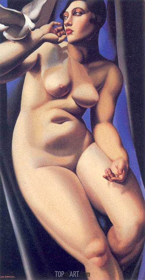 Nude with Dove, 1928 | Lempicka | Painting Reproduction