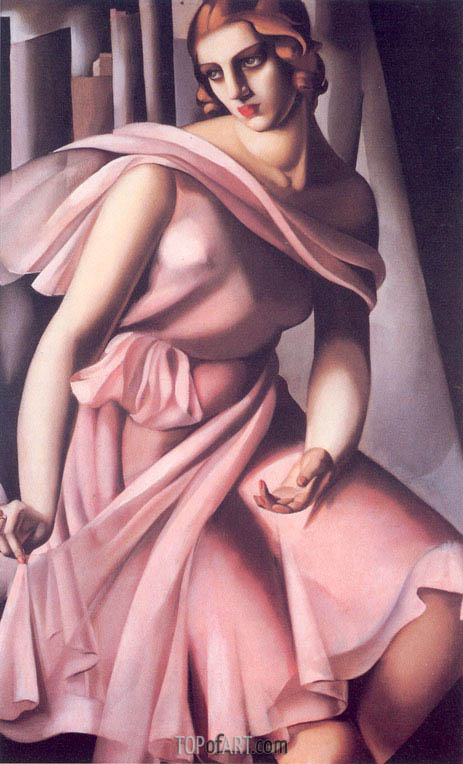 Portrait of Romana de La Salle, 1928 | Lempicka | Painting Reproduction