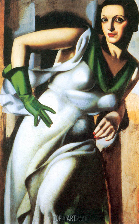 Woman with a Green Glove, 1928 | Lempicka | Painting Reproduction