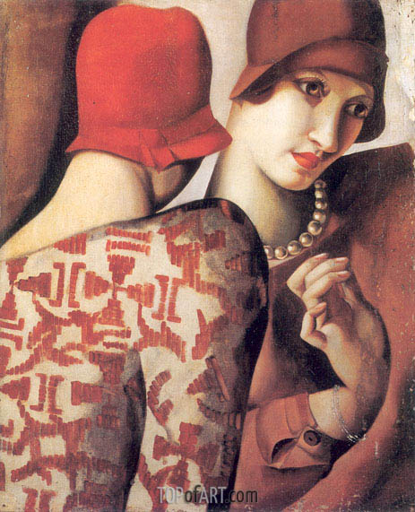 Sharing Secrets, 1928 | Lempicka | Painting Reproduction