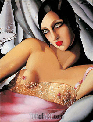 The Pink Blouse, 1933 | Lempicka| Painting Reproduction