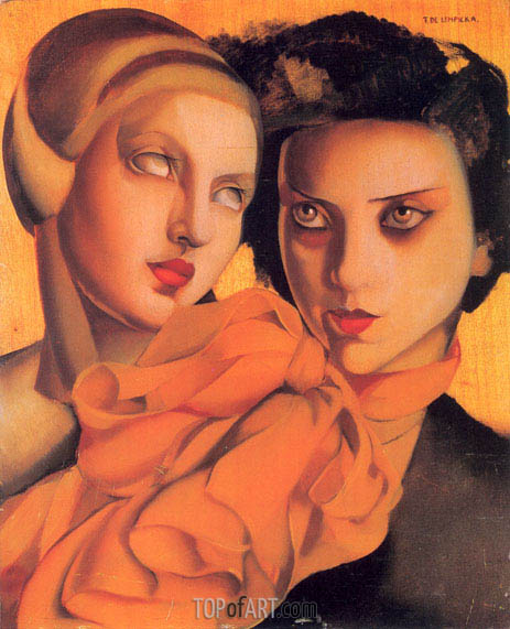 The Orange Scarf, 1927 | Lempicka | Gemälde Reproduktion