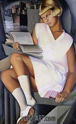Kizette in Pink, c.1926 | Lempicka | Painting Reproduction
