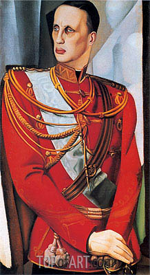 Portrait of His Imperial Highness Grand Duke Gavriil Kostantinovic, 1927 | Lempicka| Gemälde Reproduktion