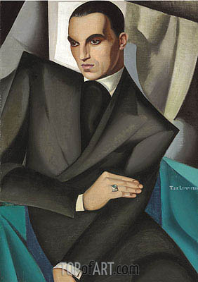 Portrait of Marquis Sommi, 1925 | Lempicka| Painting Reproduction