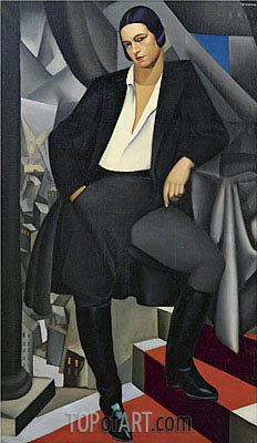 Portrait of the Duchess of La Salle, 1925 | Lempicka| Painting Reproduction
