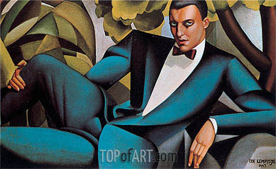 Portrait of the Marquis d'Afflito, 1925 | Lempicka | Gemälde Reproduktion
