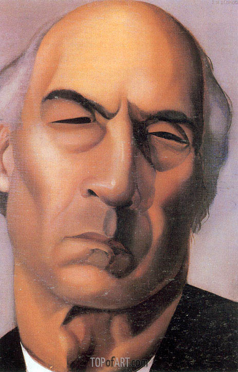 Portrait of Andre Gide, c.1925 | Lempicka | Painting Reproduction