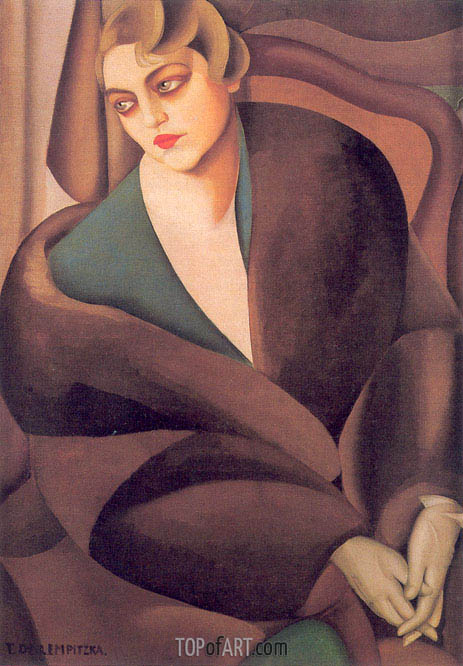 Portrait of Baroness Renata Treves, 1925 | Lempicka | Painting Reproduction