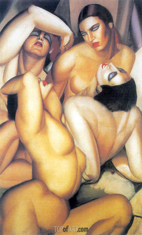 Group of Four Nudes, c.1925 | Lempicka | Painting Reproduction