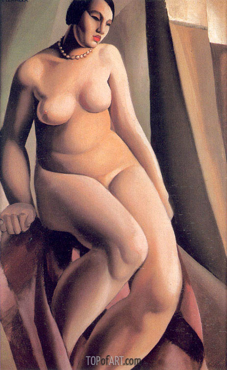 Seated Nude, 1925 | Lempicka | Painting Reproduction