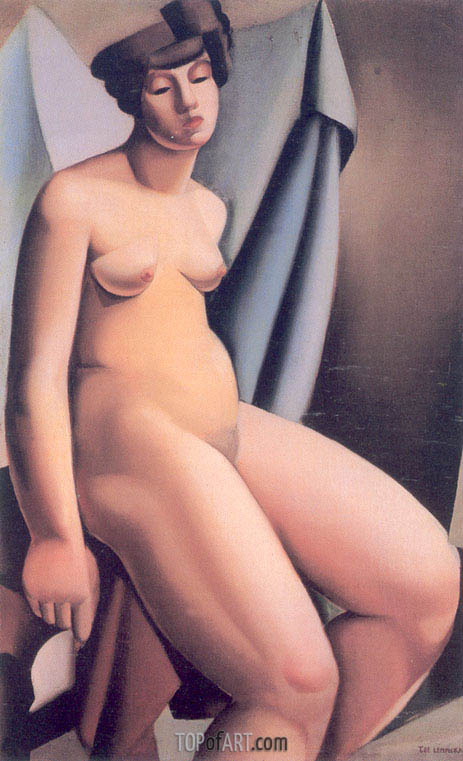 Seated Nude, c.1925 | Lempicka | Painting Reproduction