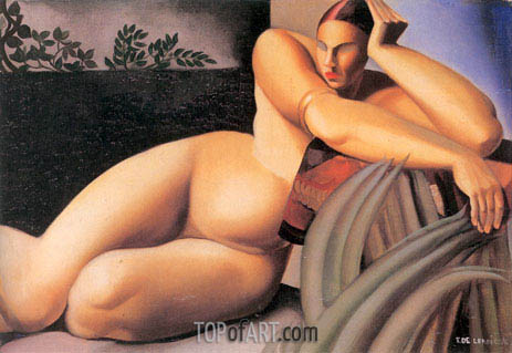 Nude on a Terrace, 1925 | Lempicka | Painting Reproduction