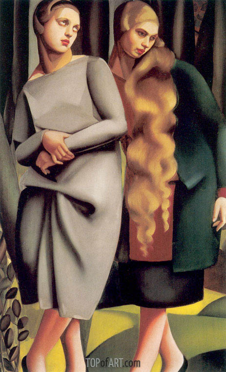 Irene and Her Sister, 1925 | Lempicka | Painting Reproduction