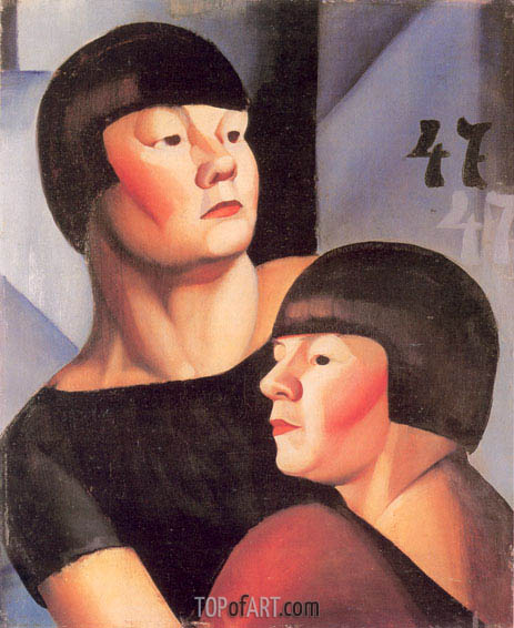 Double 47, c.1924 | Lempicka | Painting Reproduction