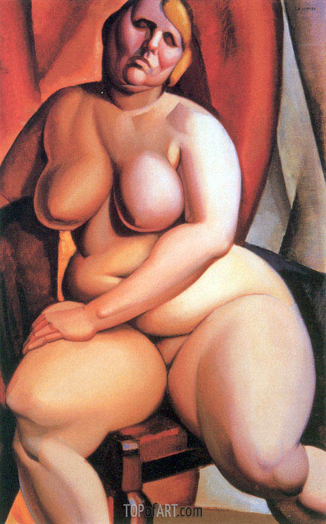 Seated Nude, c.1923 | Lempicka | Painting Reproduction