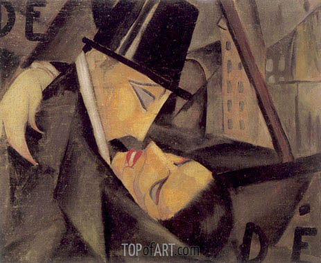 The Kiss, c.1922 | Lempicka | Painting Reproduction