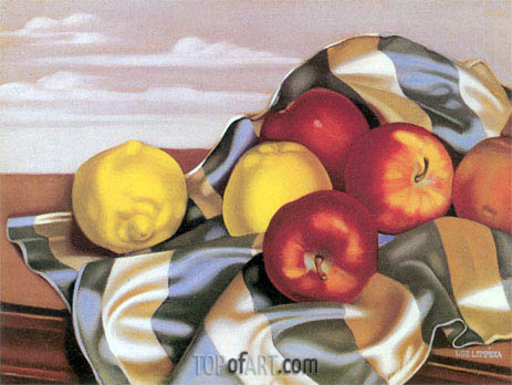 Still Life with Apples and Lemons, c.1946 | Lempicka | Painting Reproduction