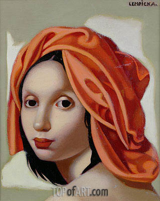 The Orange Turban II, 1935 | Lempicka | Painting Reproduction