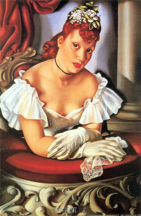 At the Opera, 1941 | Lempicka | Painting Reproduction