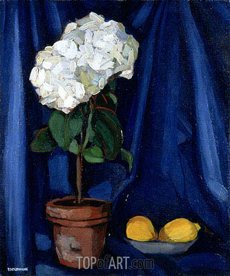 Bouquet of Hortensias and Lemon, c.1920/22 | Lempicka | Painting Reproduction