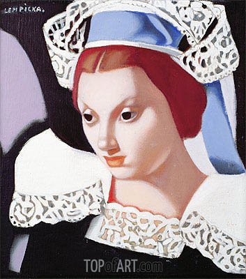 Young Breton Girl, 1975 | Lempicka | Painting Reproduction