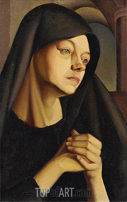 The Widow, c.1924 | Lempicka | Painting Reproduction