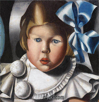 Portrait d'Evelyne P., 1932 | Lempicka | Painting Reproduction