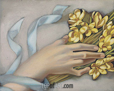 Hand Holding a Wreath, c.1949 | Lempicka | Painting Reproduction