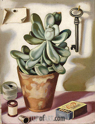 Still Life with Succulent, c.1952 | Lempicka | Painting Reproduction