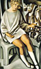 Kizette on the Balcony | Tamara de Lempicka (inspired by)