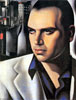 Portrait of Count Vettor Marcello | Tamara de Lempicka (inspired by)