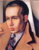 Portrait of a Man with His Collar Turned Up | Tamara de Lempicka (inspired by)