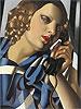 The Telephone II   Tamara de Lempicka (inspired by)