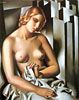 Nude with Buildings   Tamara de Lempicka (inspired by)