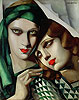 The Green Turban | Tamara de Lempicka (inspired by)